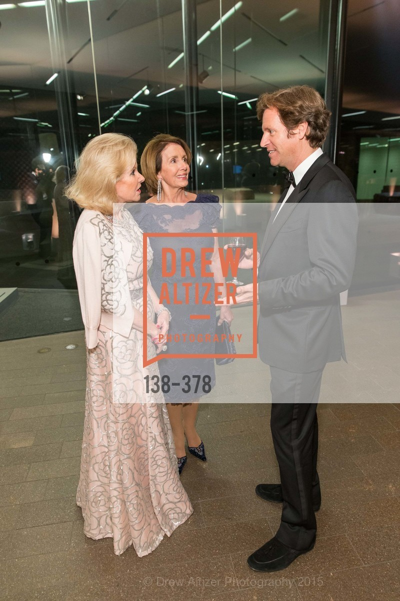 Dede Wilsey, Nancy Pelosi, Trevor Traina, Tenth Anniversary Celebration of the New de Young  Museum, de Young Museum. 50 Hagiwara Tea Garden Dr, October 14th, 2015,Drew Altizer, Drew Altizer Photography, full-service agency, private events, San Francisco photographer, photographer california