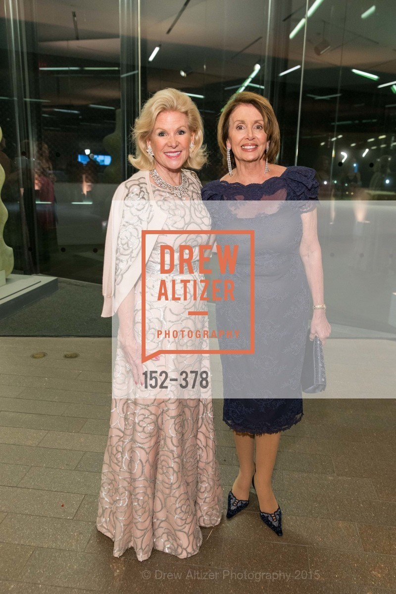 Dede Wilsey, Nancy Pelosi, Tenth Anniversary Celebration of the New de Young  Museum, de Young Museum. 50 Hagiwara Tea Garden Dr, October 14th, 2015,Drew Altizer, Drew Altizer Photography, full-service event agency, private events, San Francisco photographer, photographer California