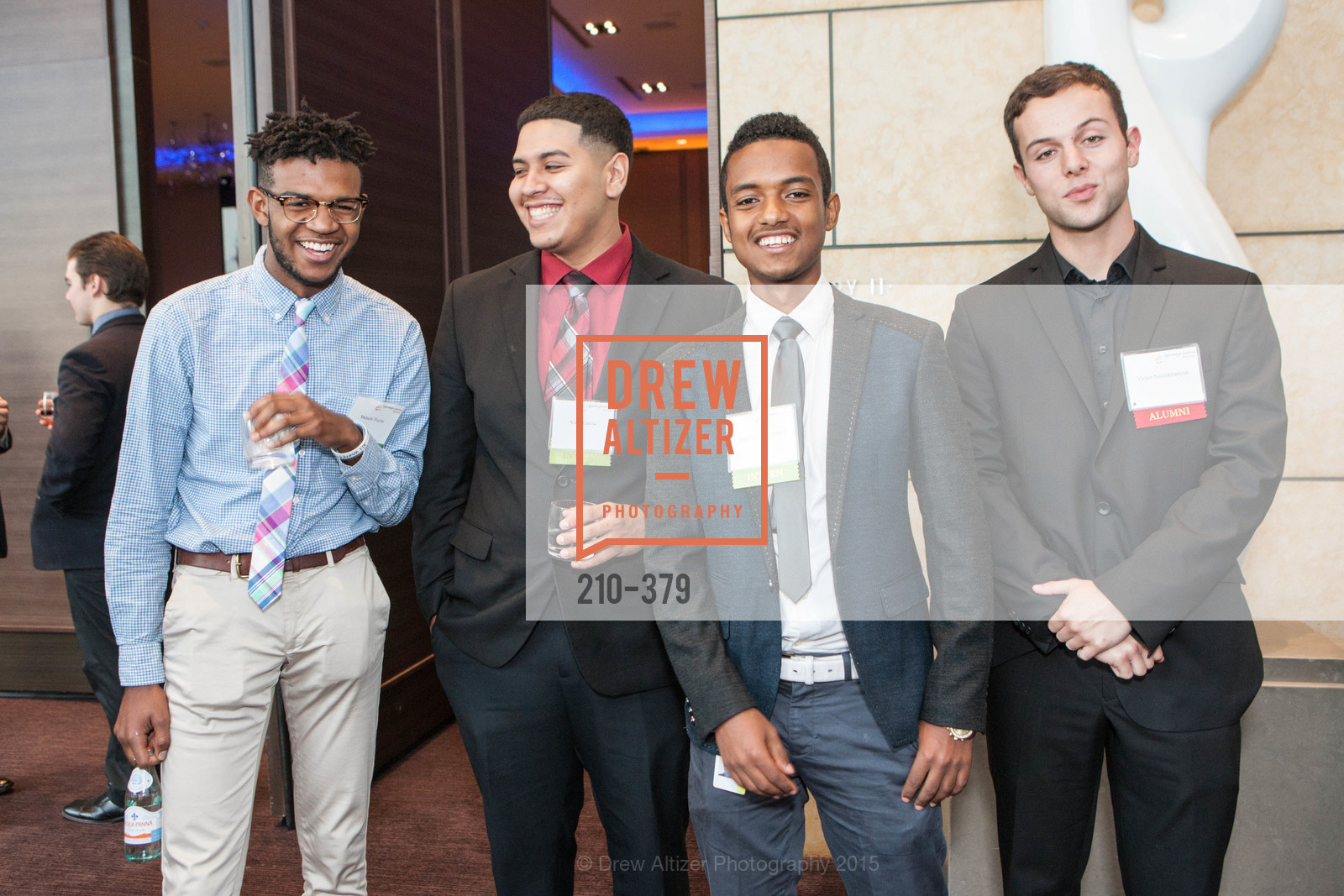 Malachi Taylor, Vidal Garcia, Abdulahi Mohammed, Victor Nazlukhanyan, Genesys Works Bay Area Presents BREAKING THROUGH, St. Regis Hotel. 125 3rd St, October 14th, 2015,Drew Altizer, Drew Altizer Photography, full-service agency, private events, San Francisco photographer, photographer california