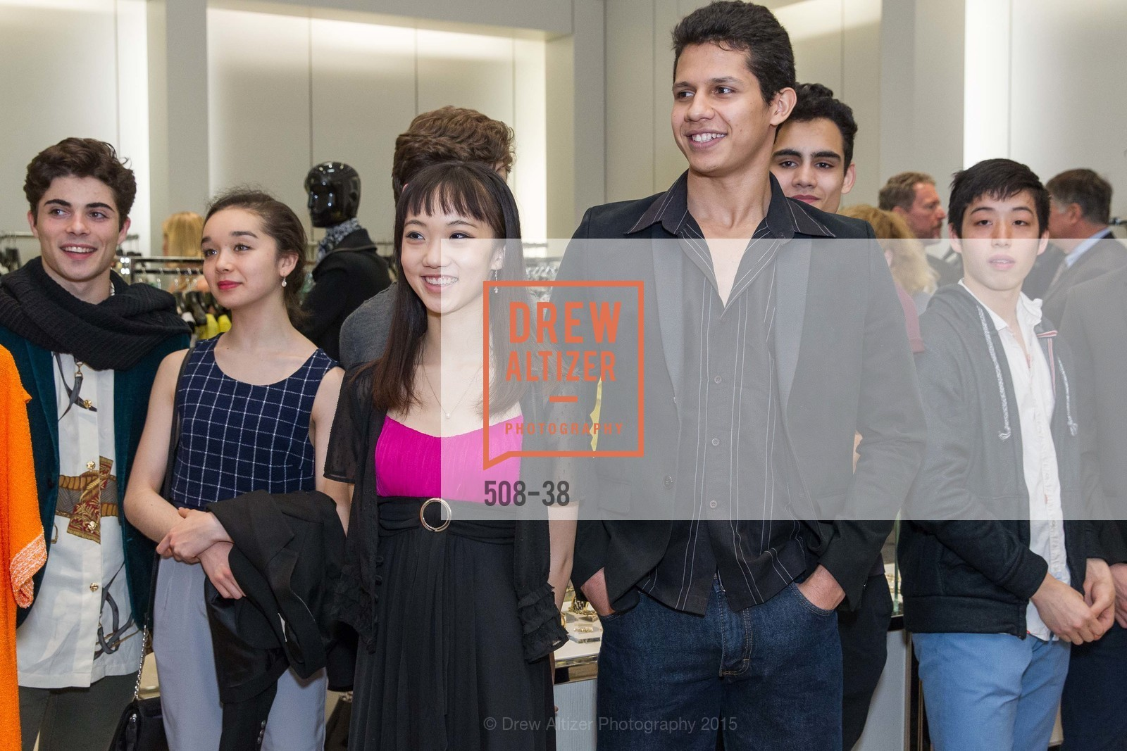 Daniel Domench, Natasha Sheehan, Chisako Oga, Adriel Diniz, Haruo Niniya, SF BALLET at St. John Boutique, Four Seasons Hotel. 767A Market Street, Suite B, April 15th, 2015,Drew Altizer, Drew Altizer Photography, full-service agency, private events, San Francisco photographer, photographer california
