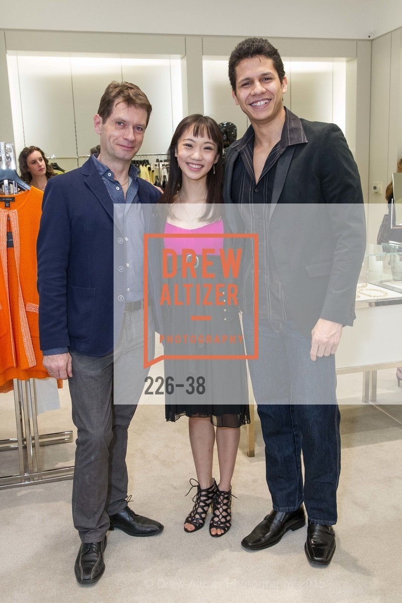 Patrick Armand, Chisako Oga, Adriel Diniz, SF BALLET at St. John Boutique, Four Seasons Hotel. 767A Market Street, Suite B, April 15th, 2015