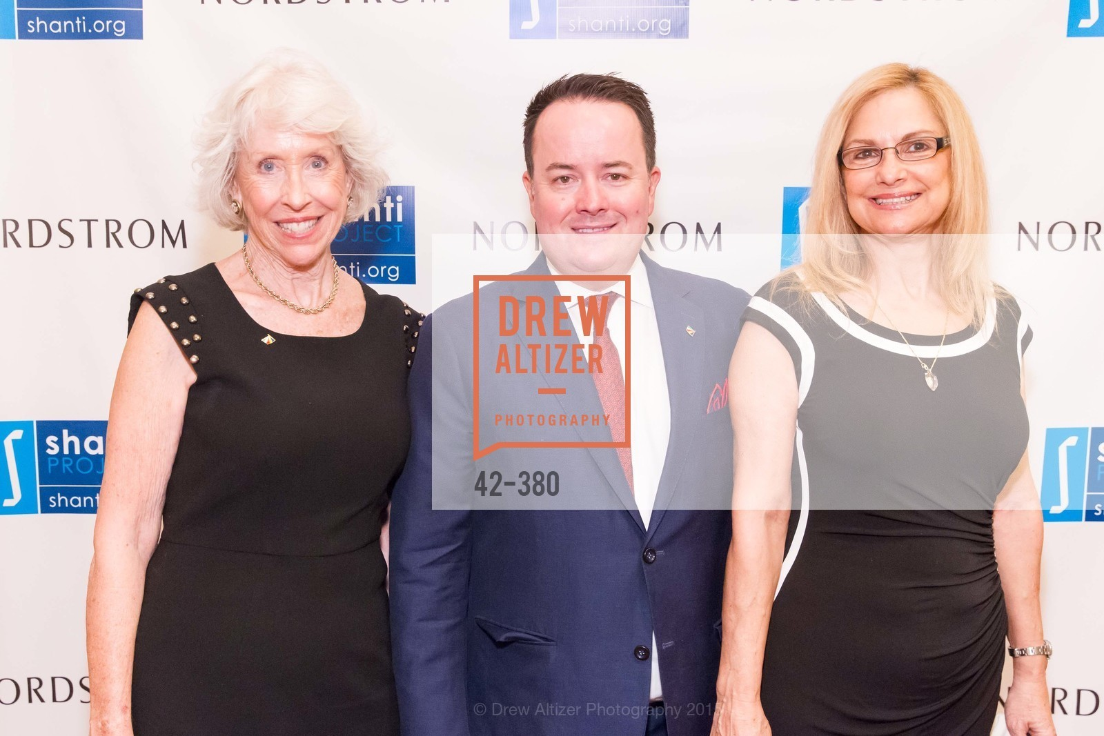 Elizabeth Willis, Shane Hensinger, Dane Church, Shanti Project 41st Annual Compassion is Universal Dinner, Palace Hotel. 2 New Montgomery St, October 14th, 2015,Drew Altizer, Drew Altizer Photography, full-service agency, private events, San Francisco photographer, photographer california