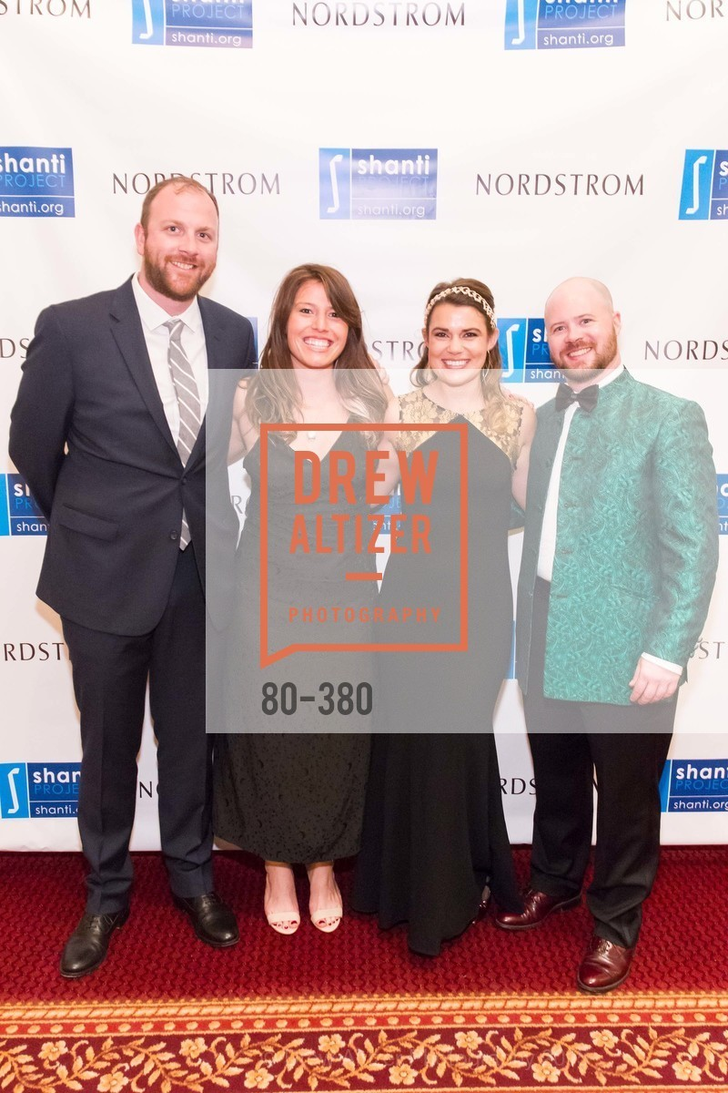 Eric Sutter, Lauren Villa, Melody Bartholomew, Jackson Bauman, Shanti Project 41st Annual Compassion is Universal Dinner, Palace Hotel. 2 New Montgomery St, October 14th, 2015,Drew Altizer, Drew Altizer Photography, full-service agency, private events, San Francisco photographer, photographer california