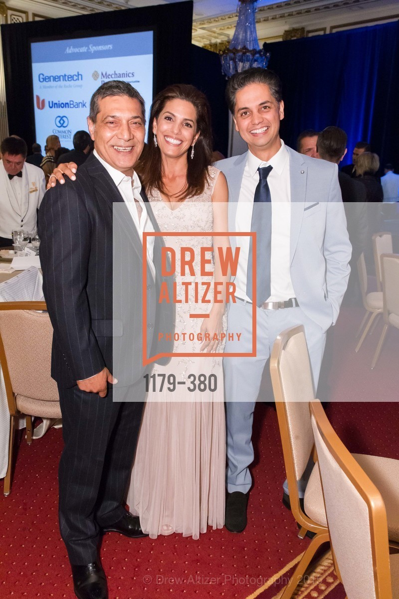 Gus Murad, Ikram Naji, Karim Naji, Shanti Project 41st Annual Compassion is Universal Dinner, Palace Hotel. 2 New Montgomery St, October 14th, 2015,Drew Altizer, Drew Altizer Photography, full-service agency, private events, San Francisco photographer, photographer california