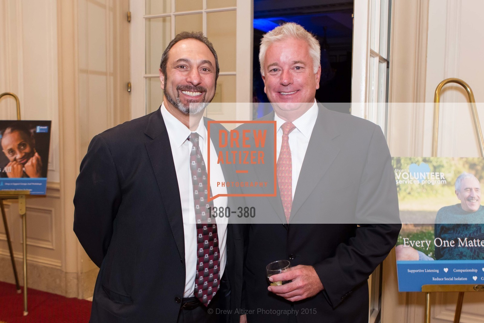 Manoog Hadeshian, Bill Dawes, Shanti Project 41st Annual Compassion is Universal Dinner, Palace Hotel. 2 New Montgomery St, October 14th, 2015,Drew Altizer, Drew Altizer Photography, full-service agency, private events, San Francisco photographer, photographer california