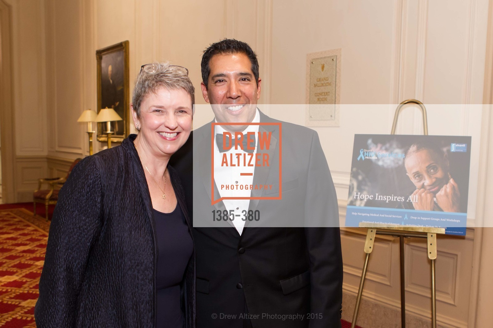 Constance Norton, Alex Rivera, Shanti Project 41st Annual Compassion is Universal Dinner, Palace Hotel. 2 New Montgomery St, October 14th, 2015,Drew Altizer, Drew Altizer Photography, full-service agency, private events, San Francisco photographer, photographer california