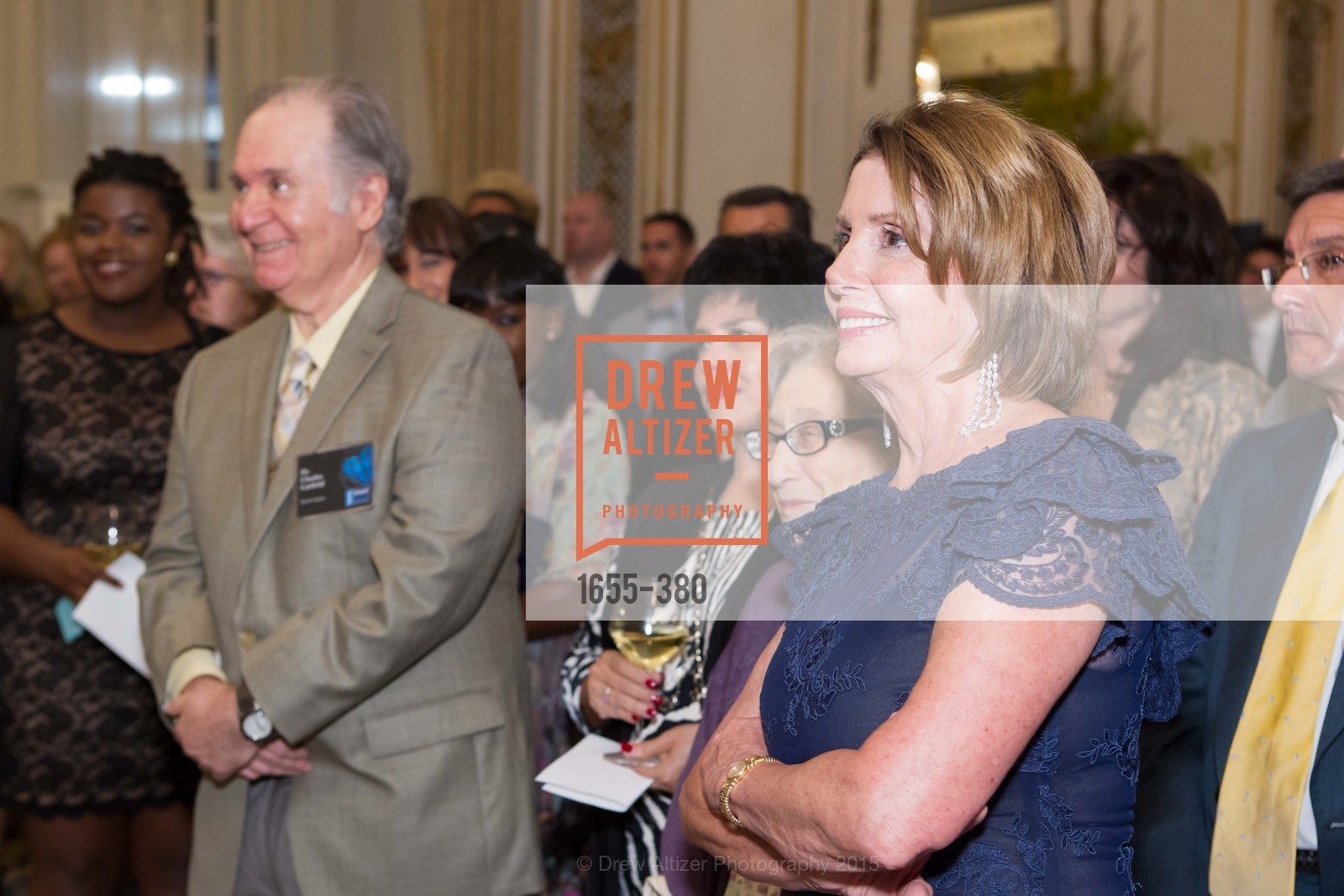 Charles Garfield, Nancy Pelosi, Shanti Project 41st Annual Compassion is Universal Dinner, Palace Hotel. 2 New Montgomery St, October 14th, 2015,Drew Altizer, Drew Altizer Photography, full-service agency, private events, San Francisco photographer, photographer california