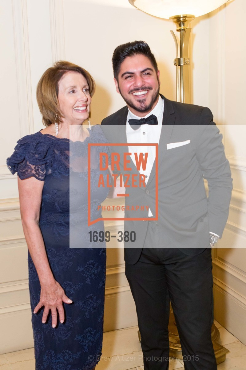 Nancy Pelosi, Naweed Mohabba, Shanti Project 41st Annual Compassion is Universal Dinner, Palace Hotel. 2 New Montgomery St, October 14th, 2015,Drew Altizer, Drew Altizer Photography, full-service agency, private events, San Francisco photographer, photographer california