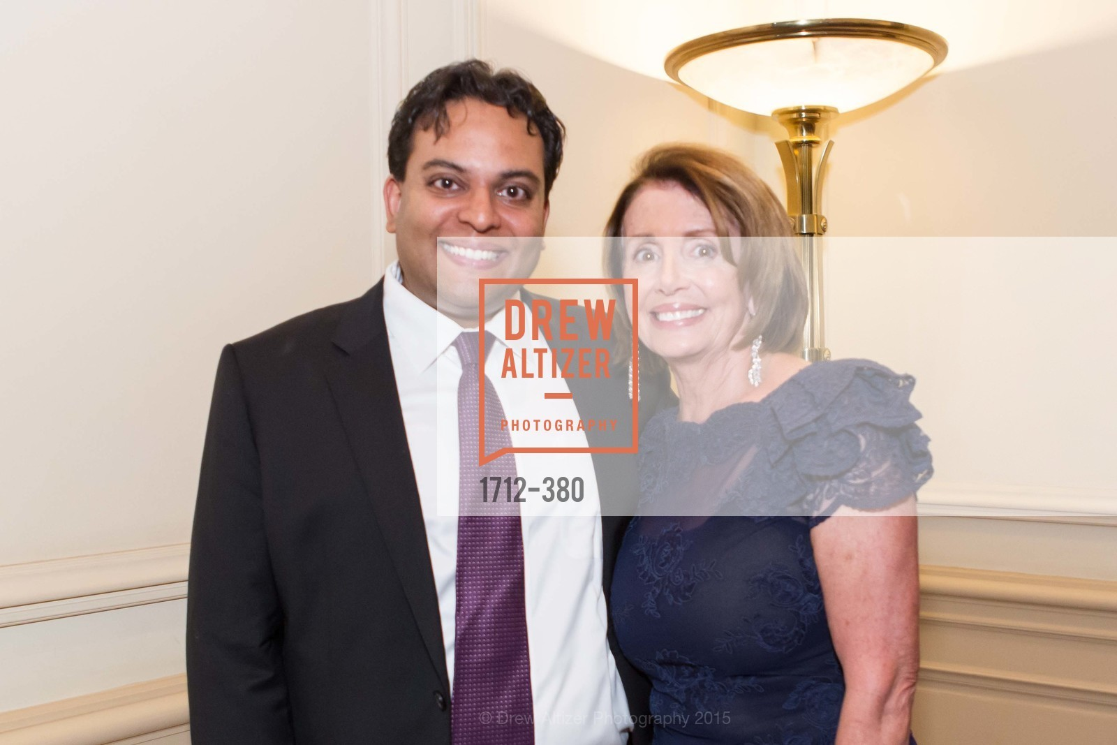 Kaushik Roy, Nancy Pelosi, Shanti Project 41st Annual Compassion is Universal Dinner, Palace Hotel. 2 New Montgomery St, October 14th, 2015,Drew Altizer, Drew Altizer Photography, full-service agency, private events, San Francisco photographer, photographer california