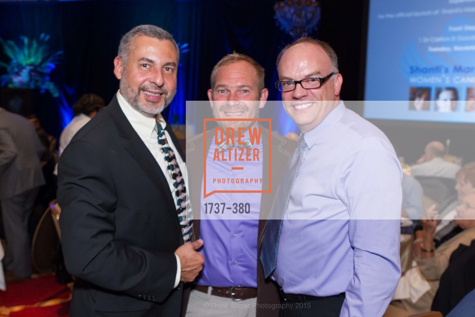 Orlando Gonzales, Dale Gluth, Keith Waltrip, Shanti Project 41st Annual Compassion is Universal Dinner, Palace Hotel. 2 New Montgomery St, October 14th, 2015,Drew Altizer, Drew Altizer Photography, full-service agency, private events, San Francisco photographer, photographer california