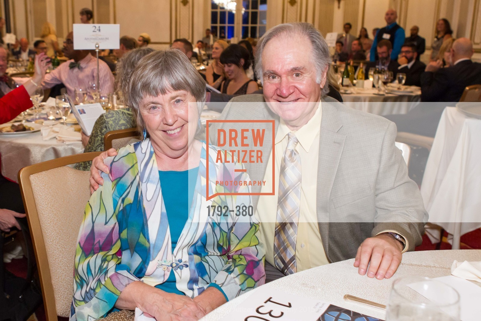 Cindy Spring, Charles Garfield, Shanti Project 41st Annual Compassion is Universal Dinner, Palace Hotel. 2 New Montgomery St, October 14th, 2015,Drew Altizer, Drew Altizer Photography, full-service agency, private events, San Francisco photographer, photographer california