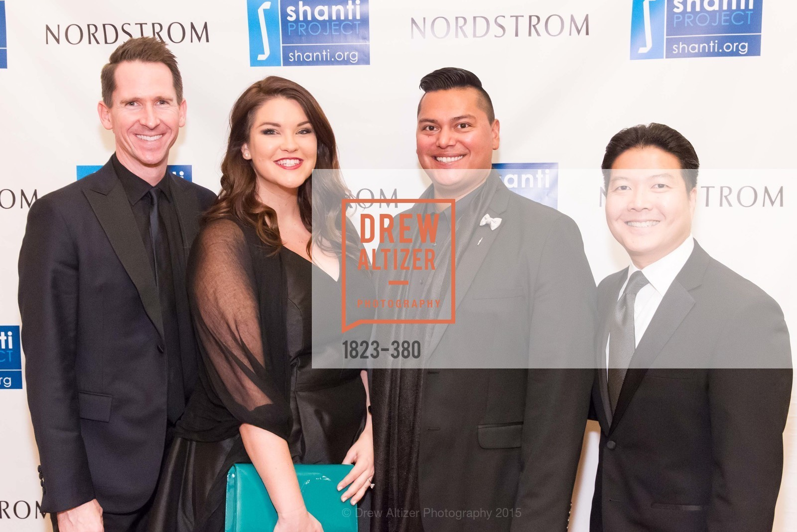 Greg Davis, Jessie Ferguson, Lorenzo Davis, Kenneth Ma, Shanti Project 41st Annual Compassion is Universal Dinner, Palace Hotel. 2 New Montgomery St, October 14th, 2015,Drew Altizer, Drew Altizer Photography, full-service agency, private events, San Francisco photographer, photographer california