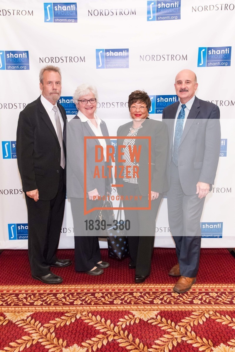 Ron Schaer, Barbara Dunn, Cecelia Thomas, Richard Falls, Shanti Project 41st Annual Compassion is Universal Dinner, Palace Hotel. 2 New Montgomery St, October 14th, 2015,Drew Altizer, Drew Altizer Photography, full-service agency, private events, San Francisco photographer, photographer california