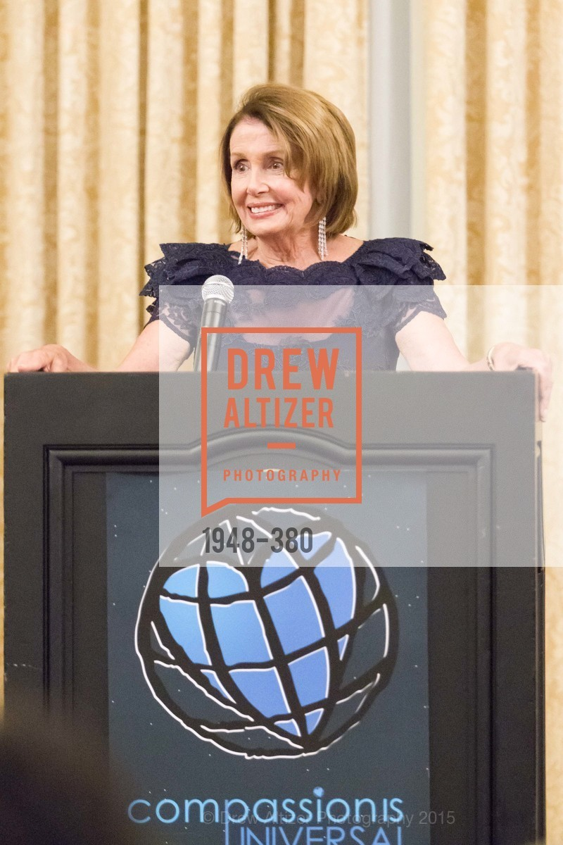 Nancy Pelosi, Shanti Project 41st Annual Compassion is Universal Dinner, Palace Hotel. 2 New Montgomery St, October 14th, 2015,Drew Altizer, Drew Altizer Photography, full-service agency, private events, San Francisco photographer, photographer california