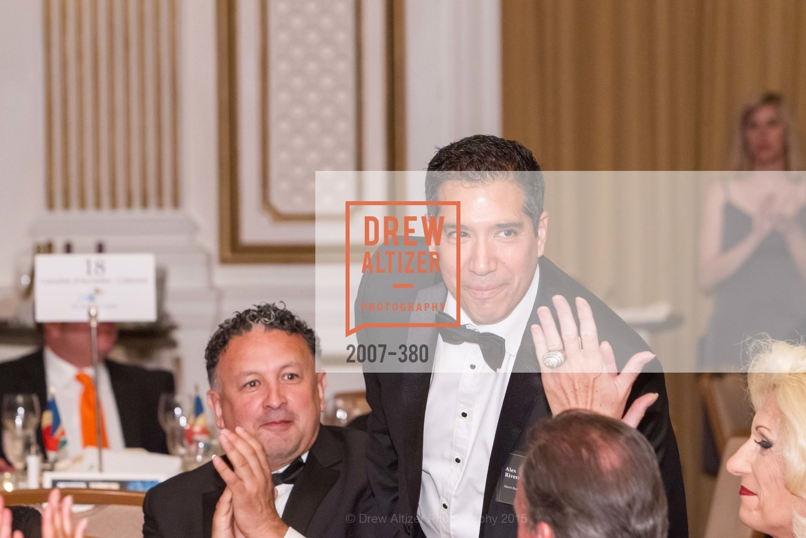 Miguel Bustos, Alex Rivera, Shanti Project 41st Annual Compassion is Universal Dinner, Palace Hotel. 2 New Montgomery St, October 14th, 2015,Drew Altizer, Drew Altizer Photography, full-service agency, private events, San Francisco photographer, photographer california