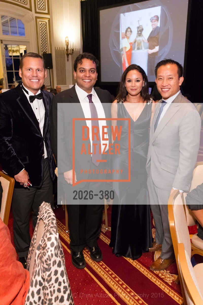 Mark Calvano, Kayshik Roy, Bahya Oumil-Murad, David Chiu, Shanti Project 41st Annual Compassion is Universal Dinner, Palace Hotel. 2 New Montgomery St, October 14th, 2015,Drew Altizer, Drew Altizer Photography, full-service agency, private events, San Francisco photographer, photographer california