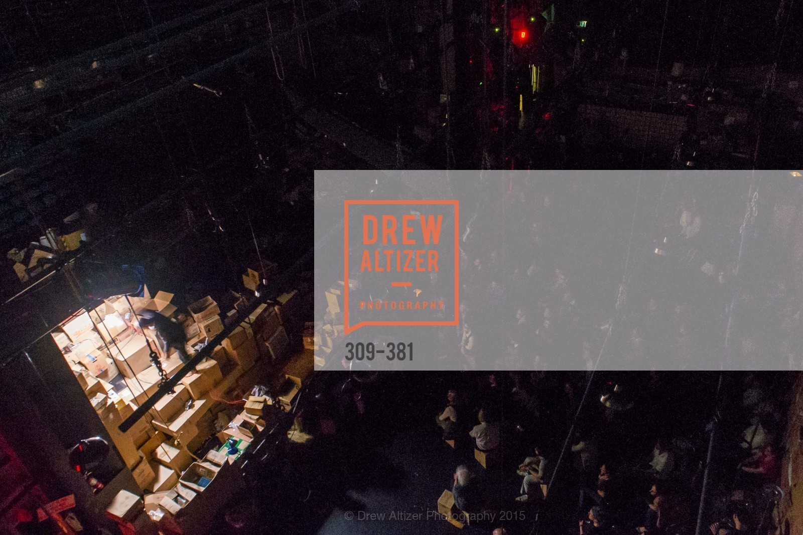 Atmosphere, Opening Night of Curran: Under Construction's THE OBJECT LESSON, Curan Theater. 445 Geary St, October 14th, 2015,Drew Altizer, Drew Altizer Photography, full-service agency, private events, San Francisco photographer, photographer california