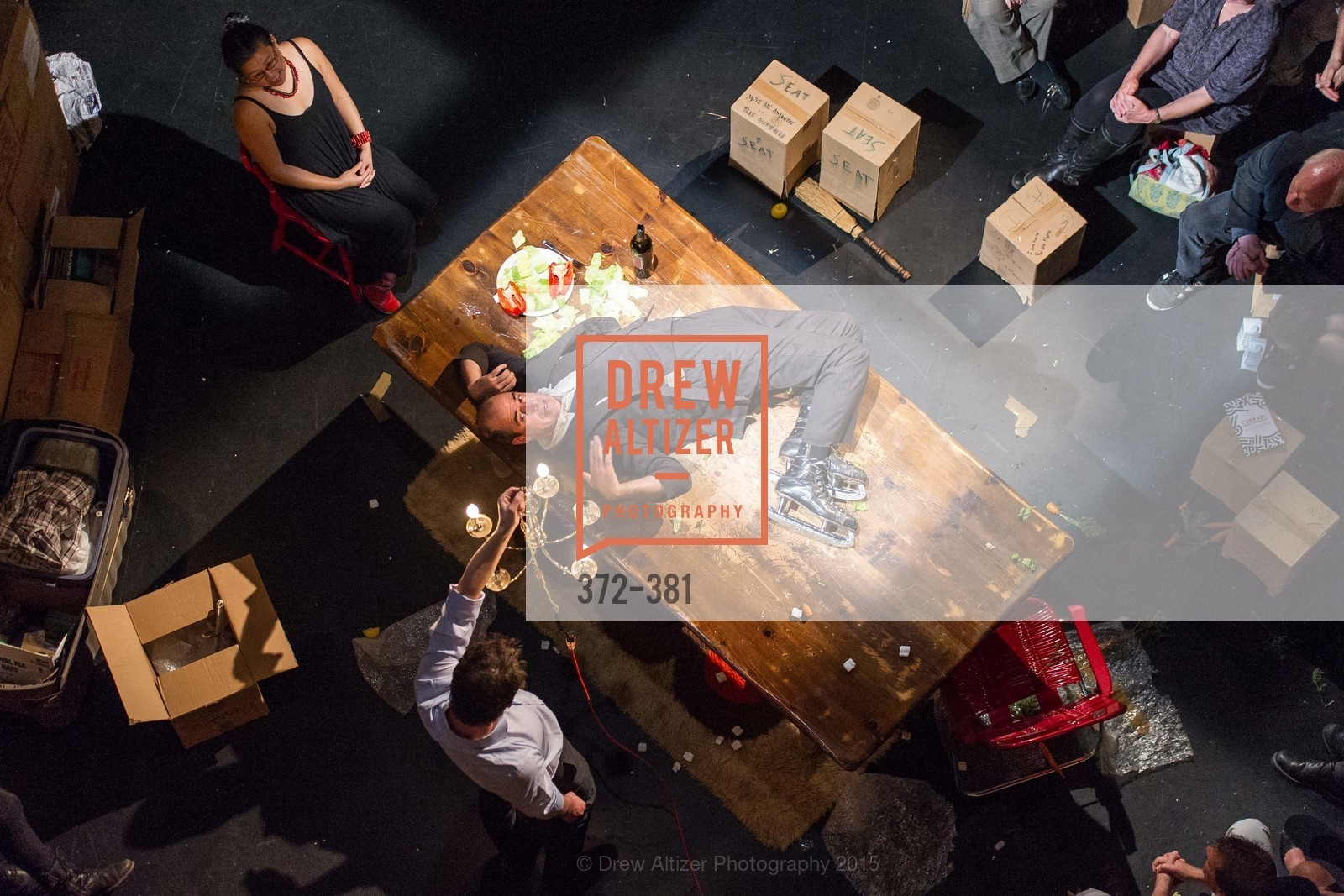 Geoff Sobelle, Nica Lee, Opening Night of Curran: Under Construction's THE OBJECT LESSON, Curan Theater. 445 Geary St, October 14th, 2015,Drew Altizer, Drew Altizer Photography, full-service agency, private events, San Francisco photographer, photographer california