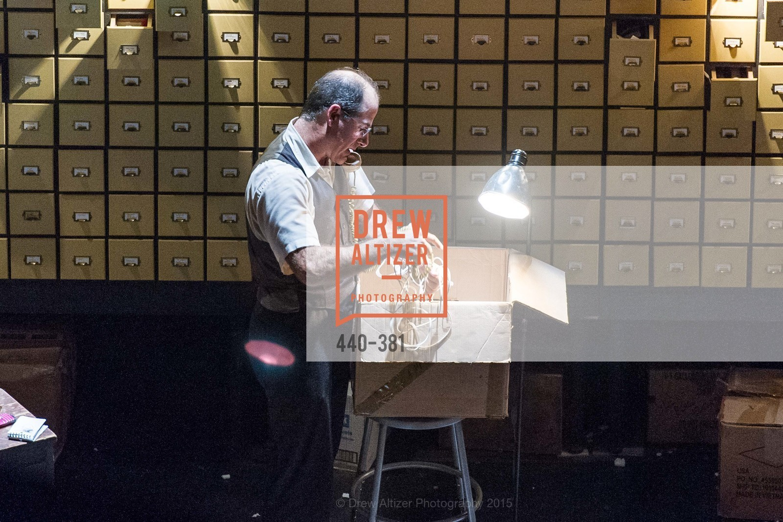 Geoff Sobelle, Opening Night of Curran: Under Construction's THE OBJECT LESSON, Curan Theater. 445 Geary St, October 14th, 2015,Drew Altizer, Drew Altizer Photography, full-service agency, private events, San Francisco photographer, photographer california