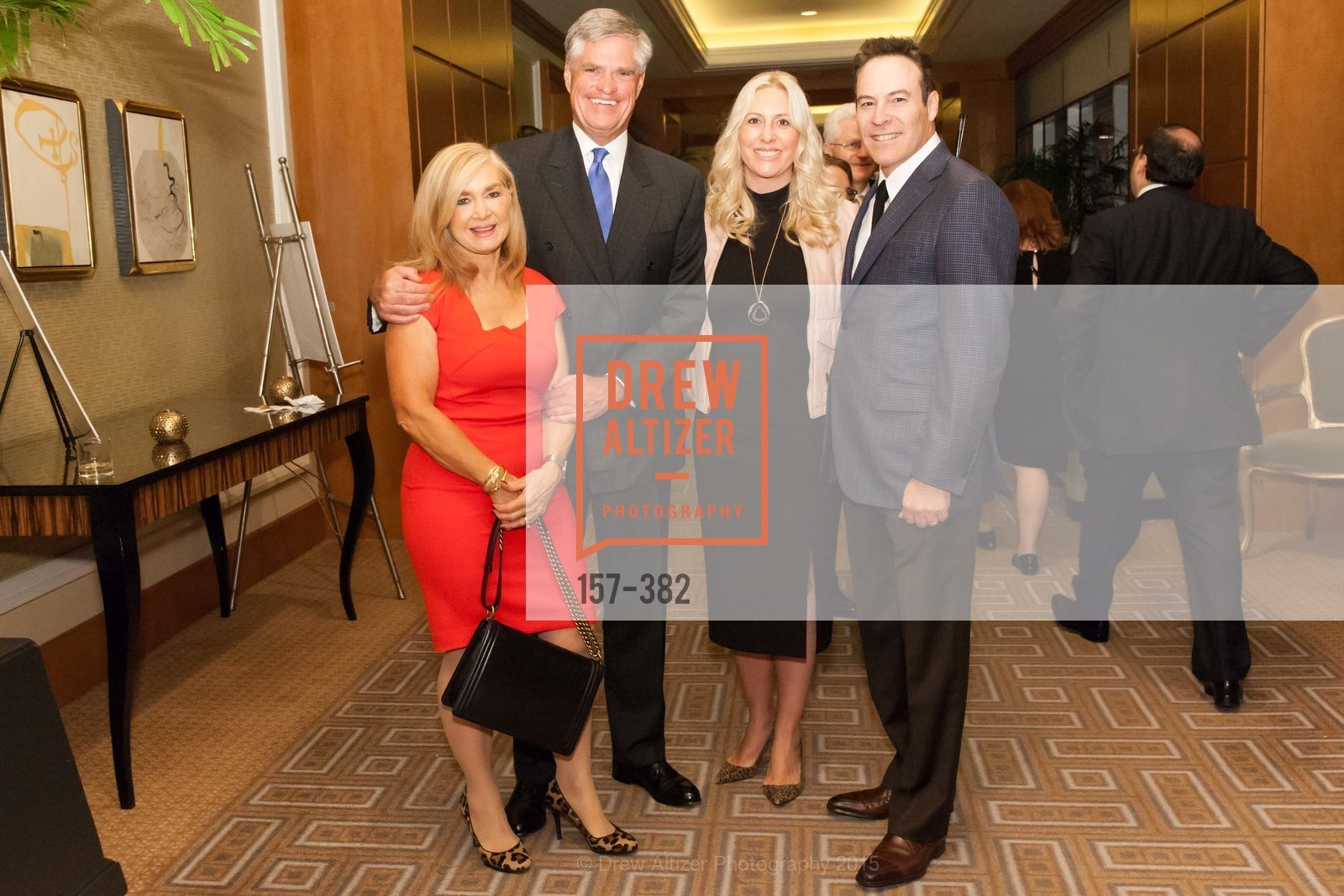 Lynne Edminster, Brian Atwood, Ginny Ziegler, Alvin Ziegler, American Cancer Society San Francisco Soiree, Four Seasons Hotel. 757 Market Street, October 15th, 2015