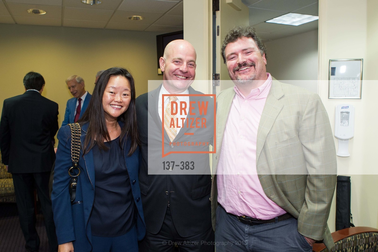 Jane Yao, Kevin Causey, Mark Gibson, Groundbreaking ceremony for the Phoebe Cowles Center for Comprehensive Pain Treatment, Phoebe Cowles Center for Comprehensive Pain Treatment. 1199 Bush Street, October 15th, 2015