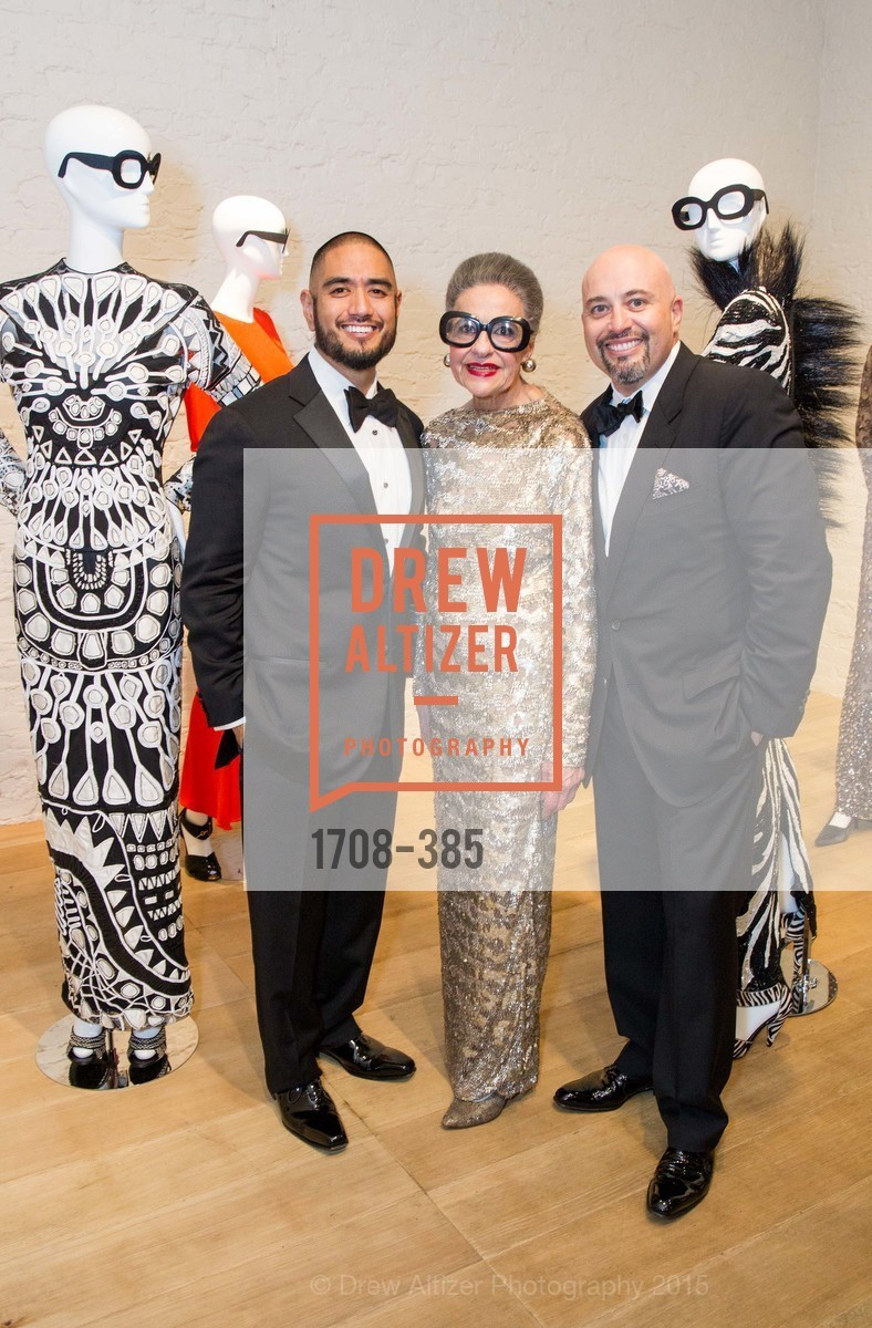 Wayne Bautista, Joy Venturini Bianchi, Alfredo Pedroza, Celebrating Life through Fashion A Retrospective: Collection of Joy Venturini Bianchi to benefit those who are developmentally disabled, Hedge Gallery. 501 Pacific Ave, October 17th, 2015,Drew Altizer, Drew Altizer Photography, full-service agency, private events, San Francisco photographer, photographer california