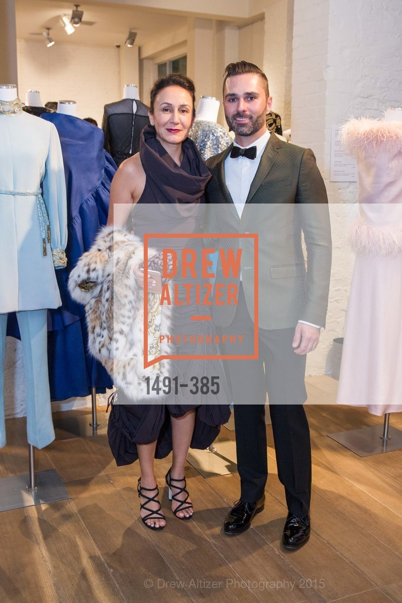 Maryam Monsef, John Bradford, Celebrating Life through Fashion A Retrospective: Collection of Joy Venturini Bianchi to benefit those who are developmentally disabled, Hedge Gallery. 501 Pacific Ave, October 17th, 2015,Drew Altizer, Drew Altizer Photography, full-service agency, private events, San Francisco photographer, photographer california