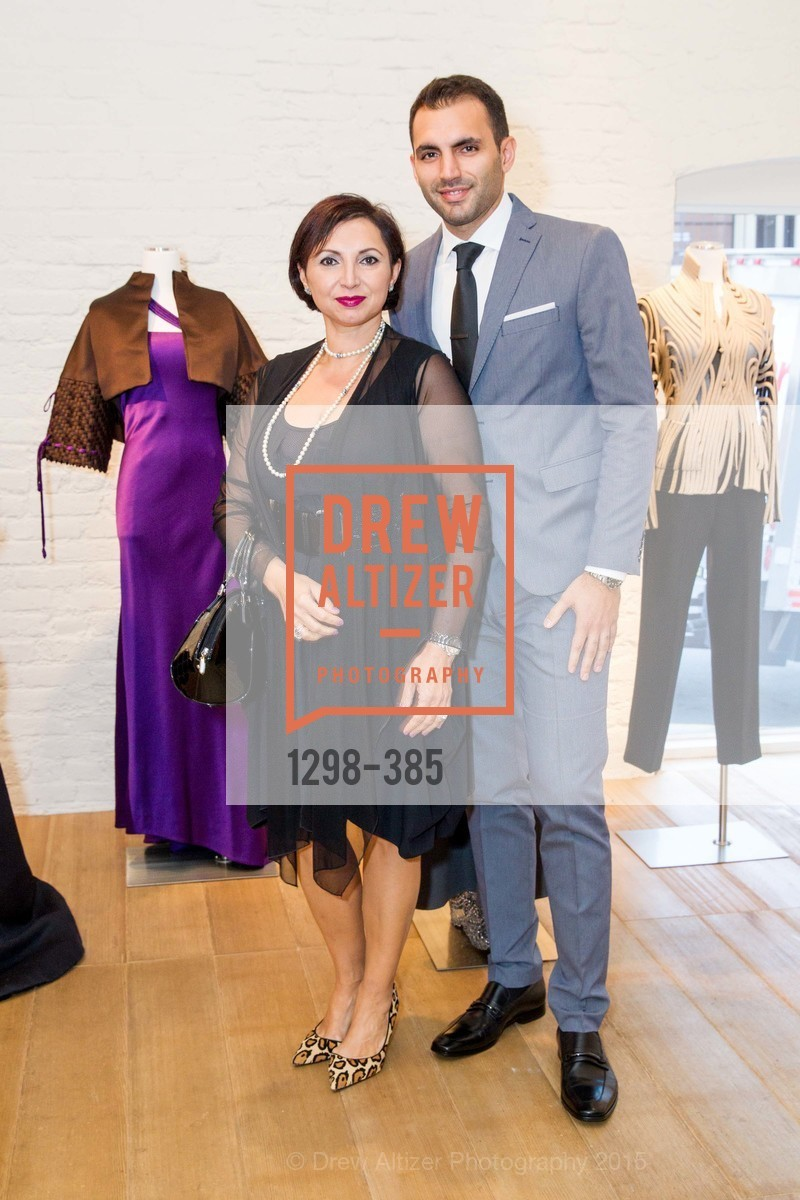 Roxanne Najafi, Justin Moayed, Celebrating Life through Fashion A Retrospective: Collection of Joy Venturini Bianchi to benefit those who are developmentally disabled, Hedge Gallery. 501 Pacific Ave, October 17th, 2015,Drew Altizer, Drew Altizer Photography, full-service agency, private events, San Francisco photographer, photographer california