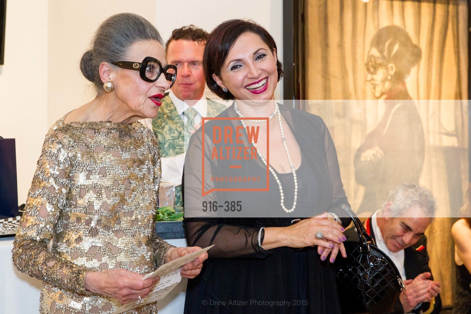 Joy Venturini Bianchi, Roxanne Najafi, Celebrating Life through Fashion A Retrospective: Collection of Joy Venturini Bianchi to benefit those who are developmentally disabled, Hedge Gallery. 501 Pacific Ave, October 17th, 2015,Drew Altizer, Drew Altizer Photography, full-service agency, private events, San Francisco photographer, photographer california