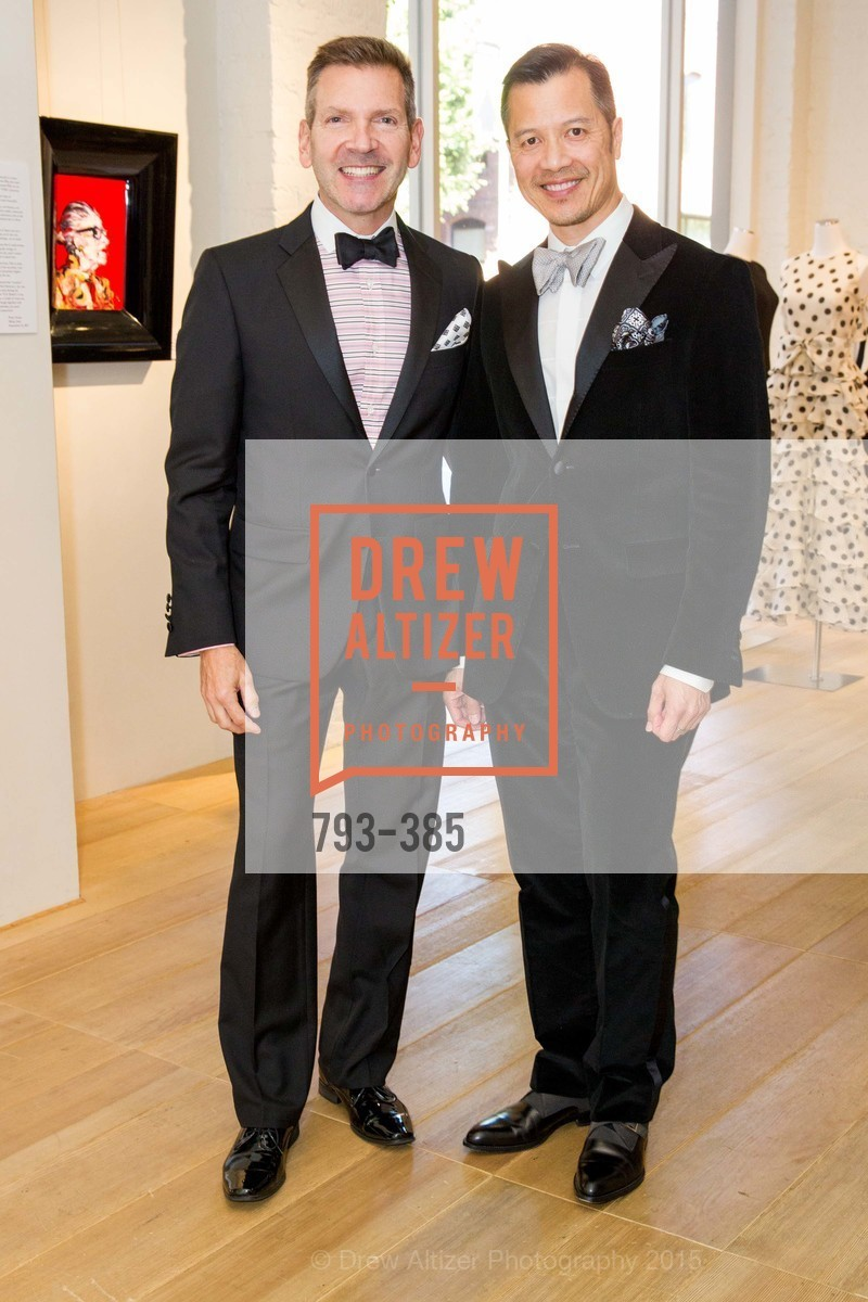 Eric Petsinger, Kevin Yee, Celebrating Life through Fashion A Retrospective: Collection of Joy Venturini Bianchi to benefit those who are developmentally disabled, Hedge Gallery. 501 Pacific Ave, October 17th, 2015,Drew Altizer, Drew Altizer Photography, full-service agency, private events, San Francisco photographer, photographer california