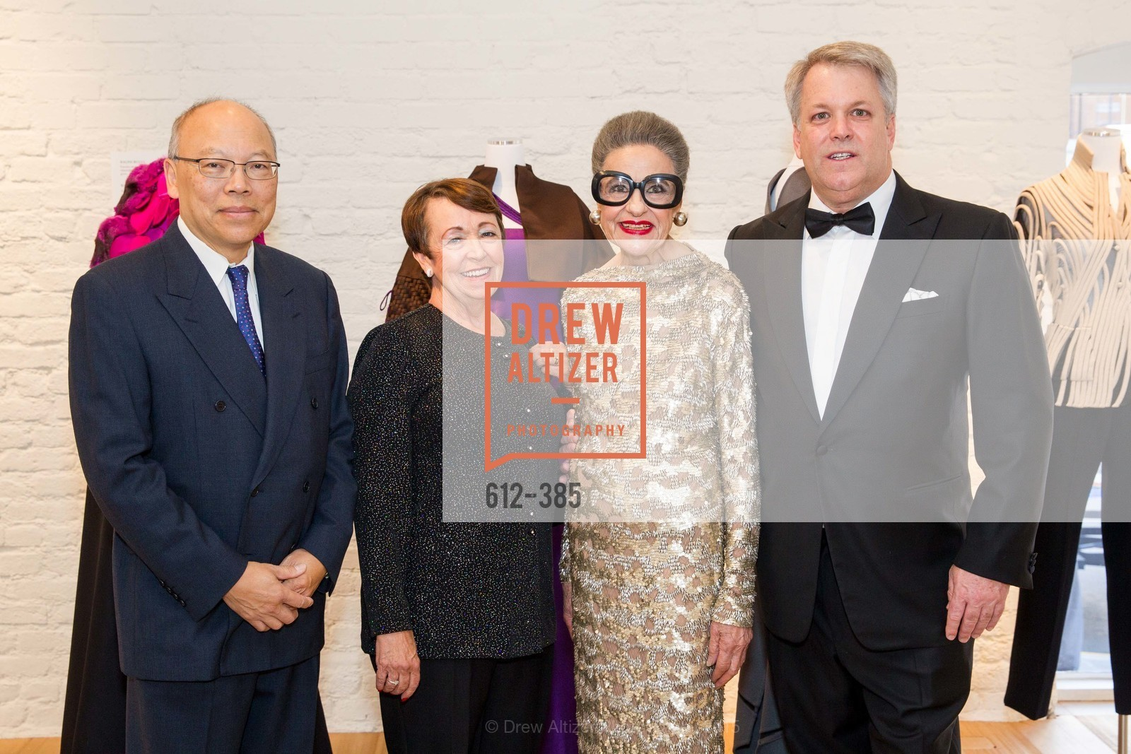 Stanley Wong, Peggy Bachecki, Joy Venturini Bianchi, Wes Carroll, Celebrating Life through Fashion A Retrospective: Collection of Joy Venturini Bianchi to benefit those who are developmentally disabled, Hedge Gallery. 501 Pacific Ave, October 17th, 2015,Drew Altizer, Drew Altizer Photography, full-service agency, private events, San Francisco photographer, photographer california