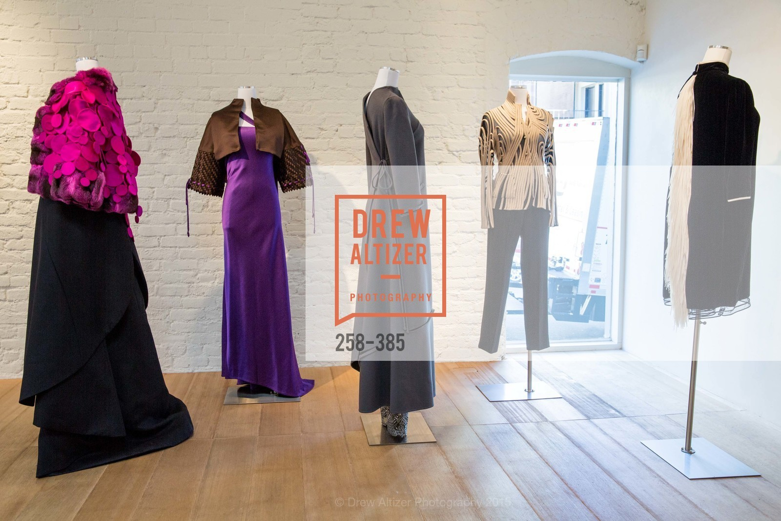 Atmosphere, Celebrating Life through Fashion A Retrospective: Collection of Joy Venturini Bianchi to benefit those who are developmentally disabled, Hedge Gallery. 501 Pacific Ave, October 17th, 2015,Drew Altizer, Drew Altizer Photography, full-service agency, private events, San Francisco photographer, photographer california