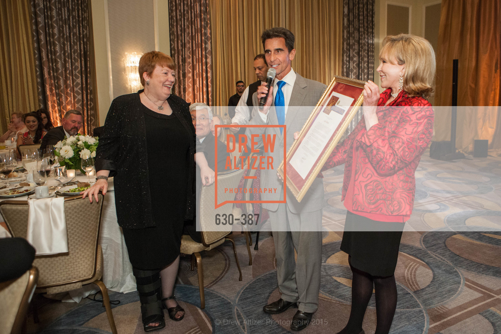 Lois Moore, Mark Leno, Cheryl Jennings, Ronald McDonald House 2015 Home Away From Home Gala, Four Seasons Hotel San Francisco, Grand Ballroom. 757 Market St, October 16th, 2015,Drew Altizer, Drew Altizer Photography, full-service agency, private events, San Francisco photographer, photographer california