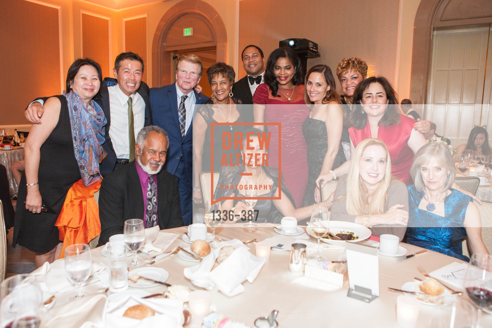 Keilani Tom, Marc Loupe, Ron Buckhammer, Carol Batte, Anette Harris, Cornell Toney, Ayanna Jenkins-Toney, LaTonya Lawson, PJ Handeland, Ronald McDonald House 2015 Home Away From Home Gala, Four Seasons Hotel San Francisco, Grand Ballroom. 757 Market St, October 16th, 2015,Drew Altizer, Drew Altizer Photography, full-service agency, private events, San Francisco photographer, photographer california