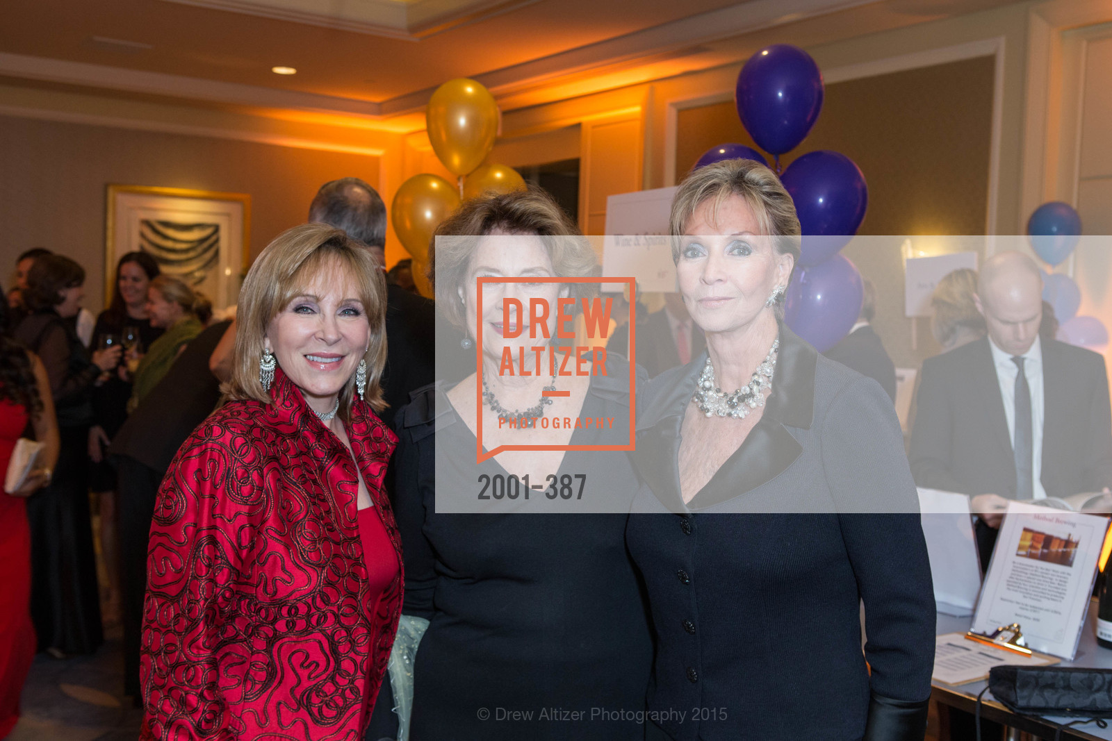 Cheryl Jennings, Diane Baker, Sallie Huntting, Ronald McDonald House 2015 Home Away From Home Gala, Four Seasons Hotel San Francisco, Grand Ballroom. 757 Market St, October 16th, 2015,Drew Altizer, Drew Altizer Photography, full-service agency, private events, San Francisco photographer, photographer california