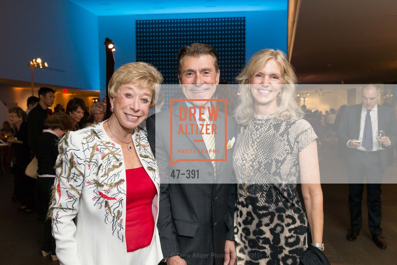 Maria Pitcairn, Robert Beadle, Andrea Schultz, Jewel City: Art From San Francisco's Panama-Pacific International Exposition Donor Opening Reception, de Young Museum, October 15th, 2015,Drew Altizer, Drew Altizer Photography, full-service agency, private events, San Francisco photographer, photographer california
