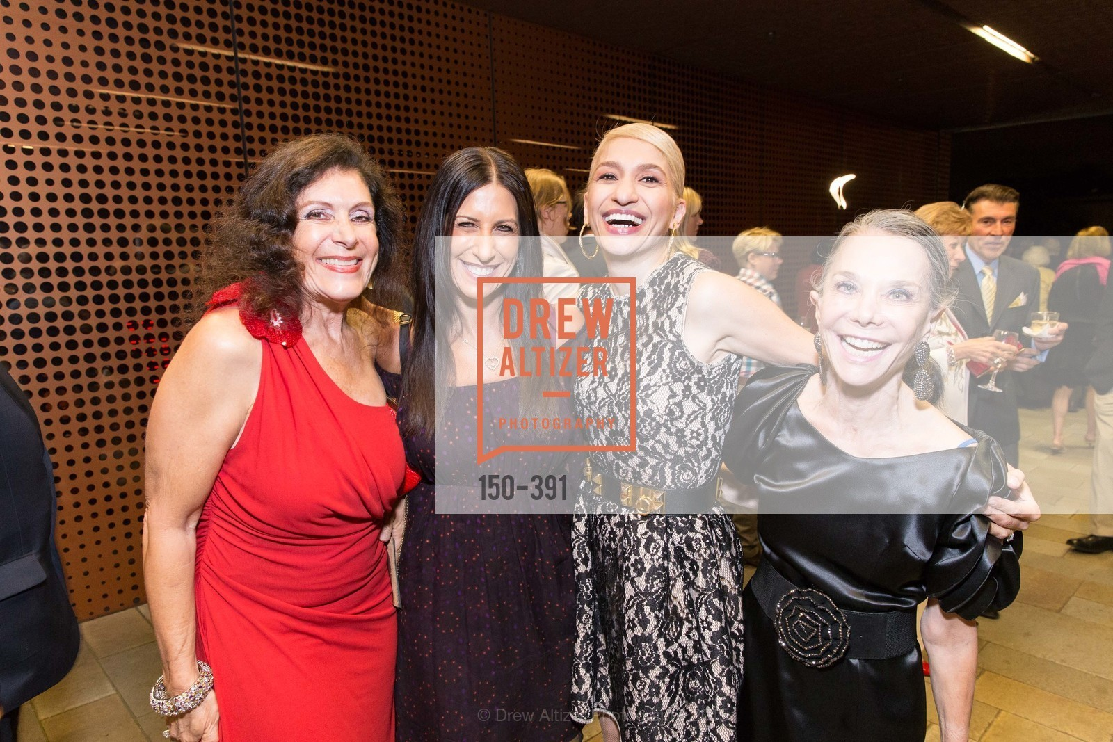 Laura Wais, Vicki Breakstone, Navid Armstrong, Julie Coplon, Jewel City: Art From San Francisco's Panama-Pacific International Exposition Donor Opening Reception, de Young Museum, October 15th, 2015,Drew Altizer, Drew Altizer Photography, full-service agency, private events, San Francisco photographer, photographer california