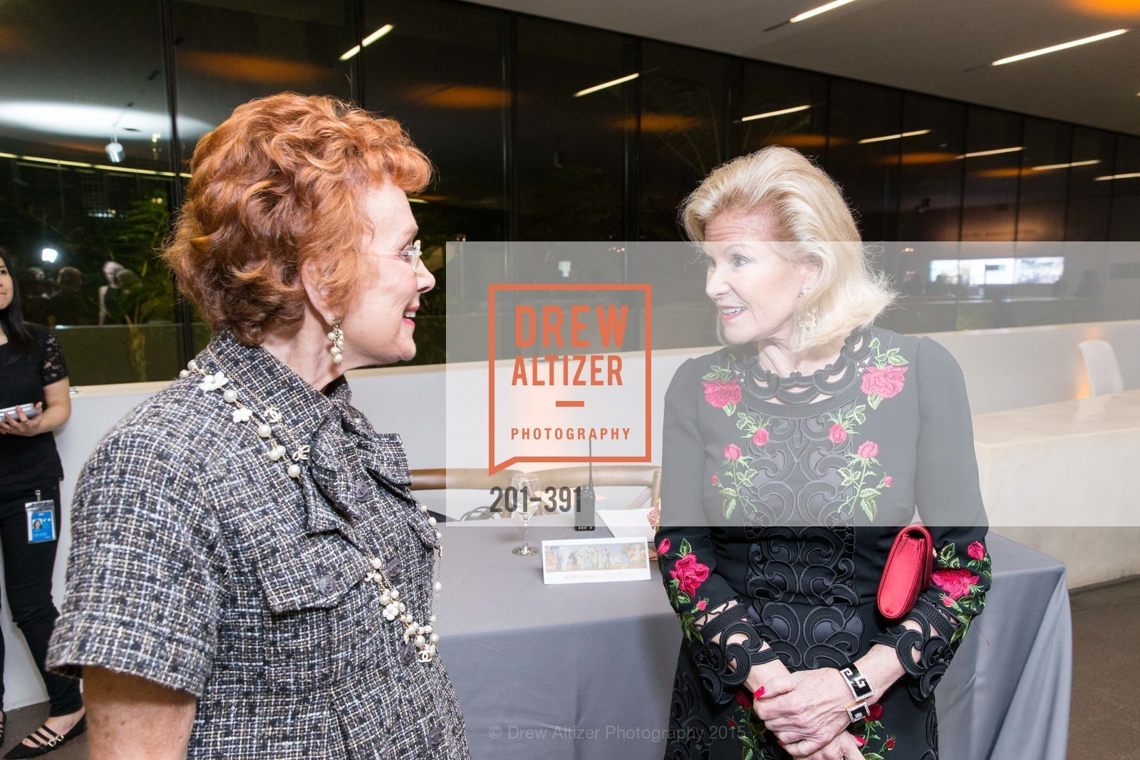 Phoebe Cowles, Dede Wilsey, Jewel City: Art From San Francisco's Panama-Pacific International Exposition Donor Opening Reception, de Young Museum, October 15th, 2015,Drew Altizer, Drew Altizer Photography, full-service event agency, private events, San Francisco photographer, photographer California