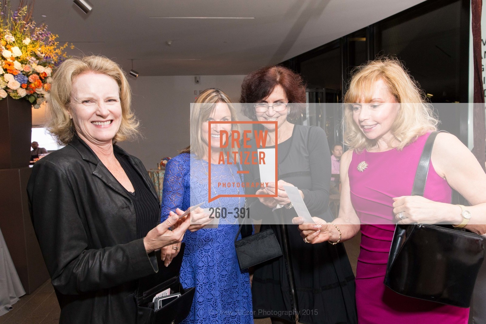 Diane Green, Reyna Bernard, Pam Martori, Judy Berg, Jewel City: Art From San Francisco's Panama-Pacific International Exposition Donor Opening Reception, de Young Museum, October 15th, 2015,Drew Altizer, Drew Altizer Photography, full-service agency, private events, San Francisco photographer, photographer california