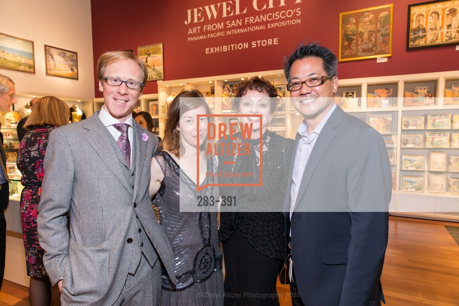 Jonathan Ravel, Leslie Dutcher, Renee Dreyfus, Steuart Hata, Jewel City: Art From San Francisco's Panama-Pacific International Exposition Donor Opening Reception, de Young Museum, October 15th, 2015,Drew Altizer, Drew Altizer Photography, full-service event agency, private events, San Francisco photographer, photographer California