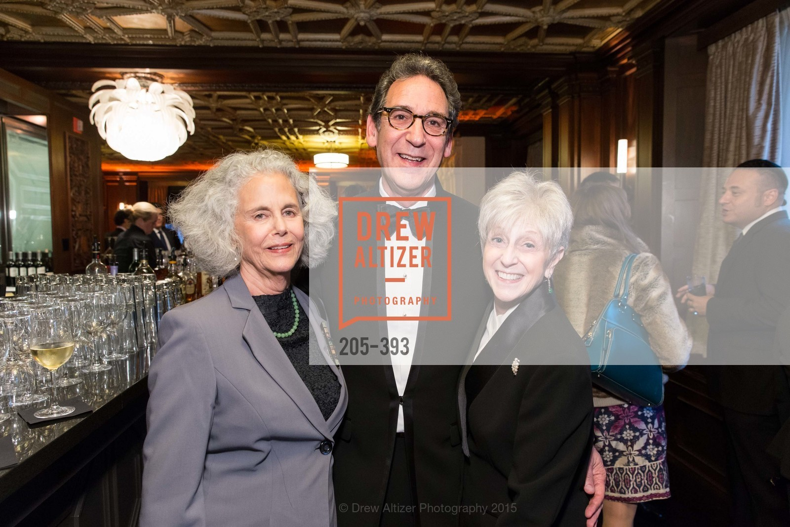 Jane Bernstein, Fred Levin, Nancy Livingston, San Francisco Performances' 36th Season Gala, Merchants Exchange Building, Julia Morgan Ballroom. 465 California St, San Francisco, CA 94104, October 16th, 2015,Drew Altizer, Drew Altizer Photography, full-service agency, private events, San Francisco photographer, photographer california