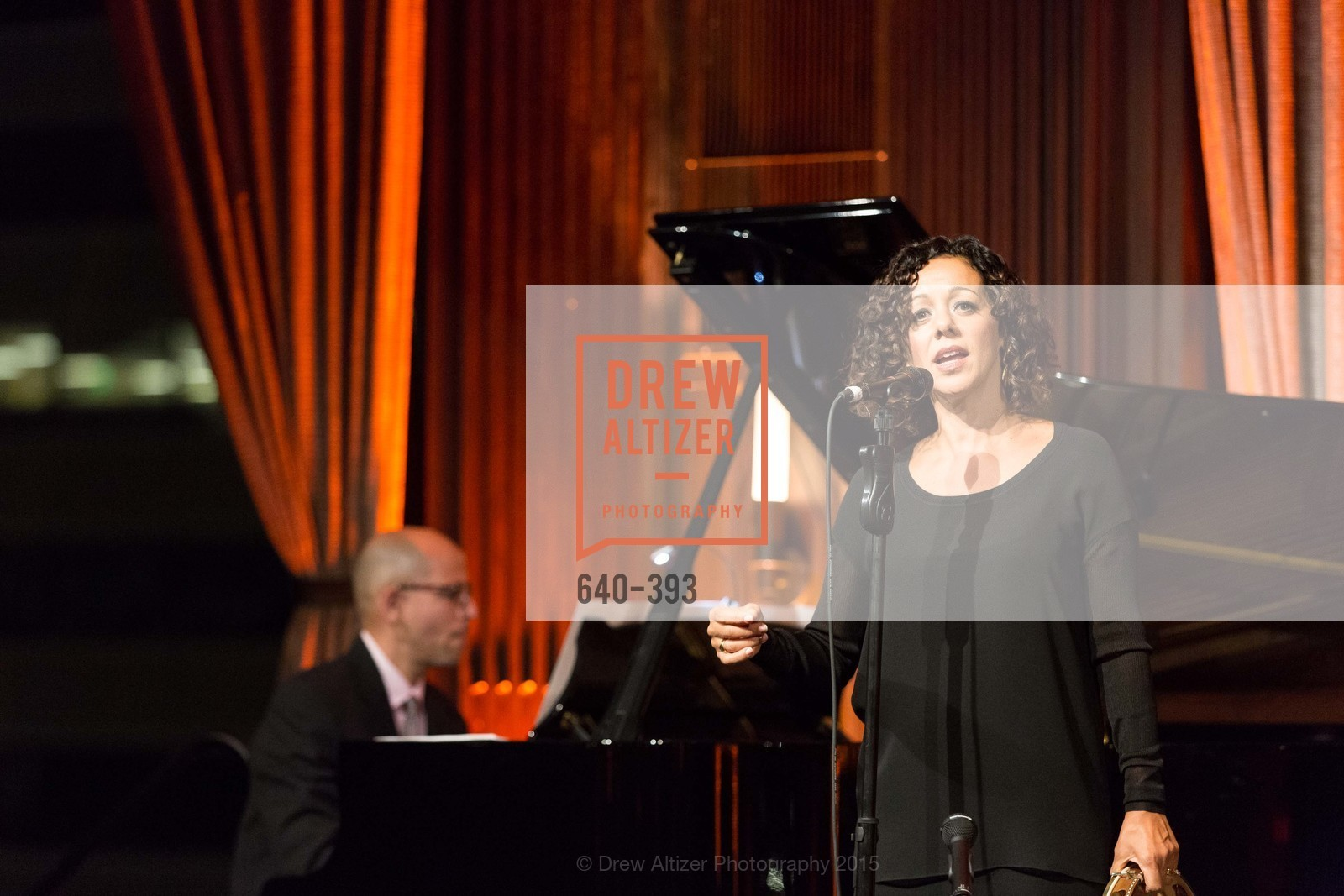Edward Simon, Luciana Souza, San Francisco Performances' 36th Season Gala, Merchants Exchange Building, Julia Morgan Ballroom. 465 California St, San Francisco, CA 94104, October 16th, 2015,Drew Altizer, Drew Altizer Photography, full-service agency, private events, San Francisco photographer, photographer california