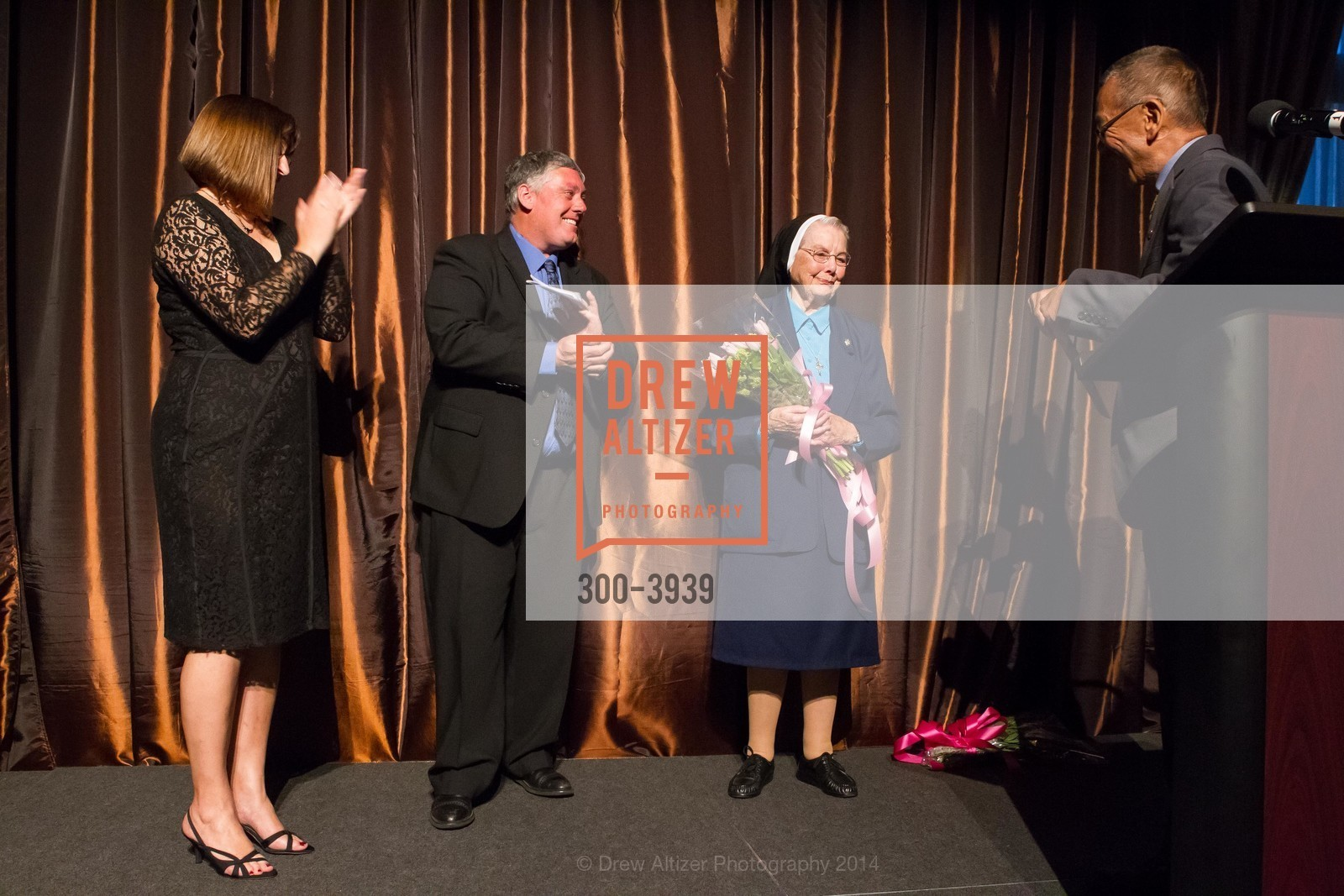 Donna Cahill, Tom Oertl, Sister Marianne Smith, Supervisor Norman Yee, Photo #300-3939