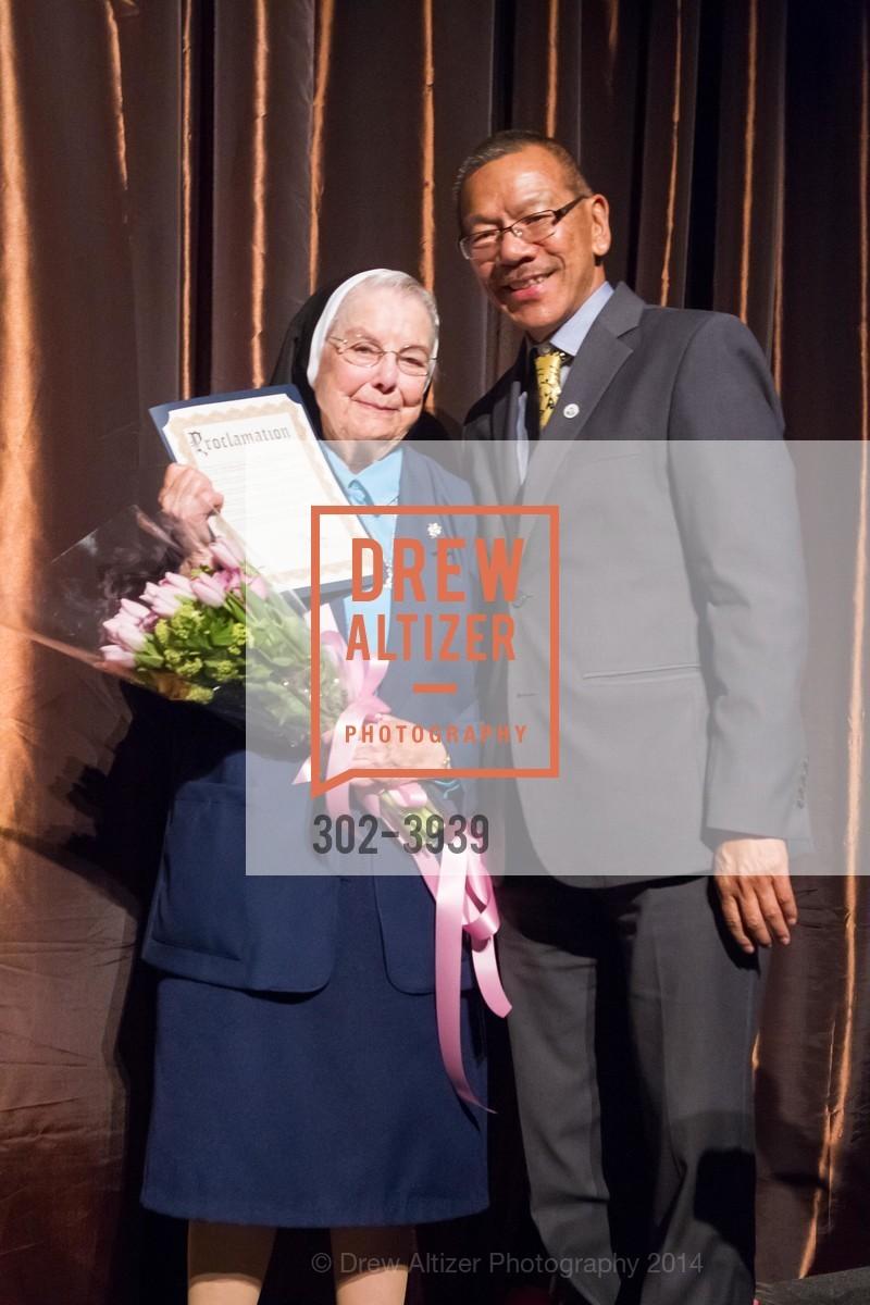 Sister Marianne Smith, Supervisor Norman Yee, Photo #302-3939