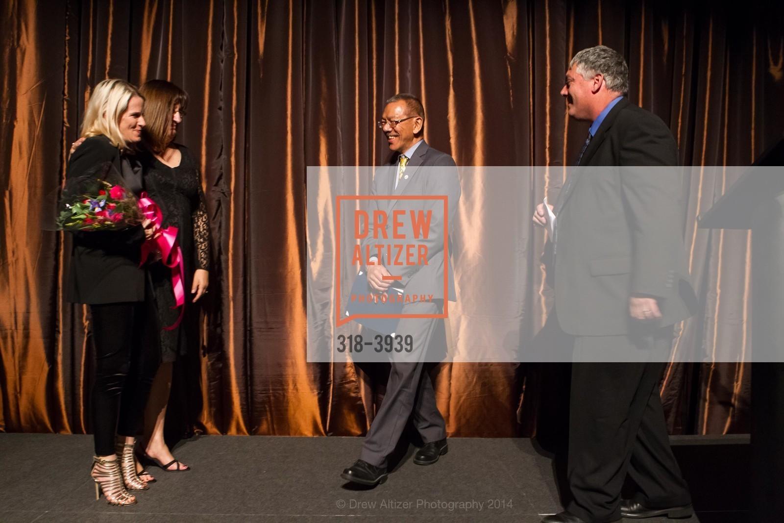 Marie Hurabiell, Donna Cahill, Supervisor Norman Yee, Tom Oertl, Photo #318-3939