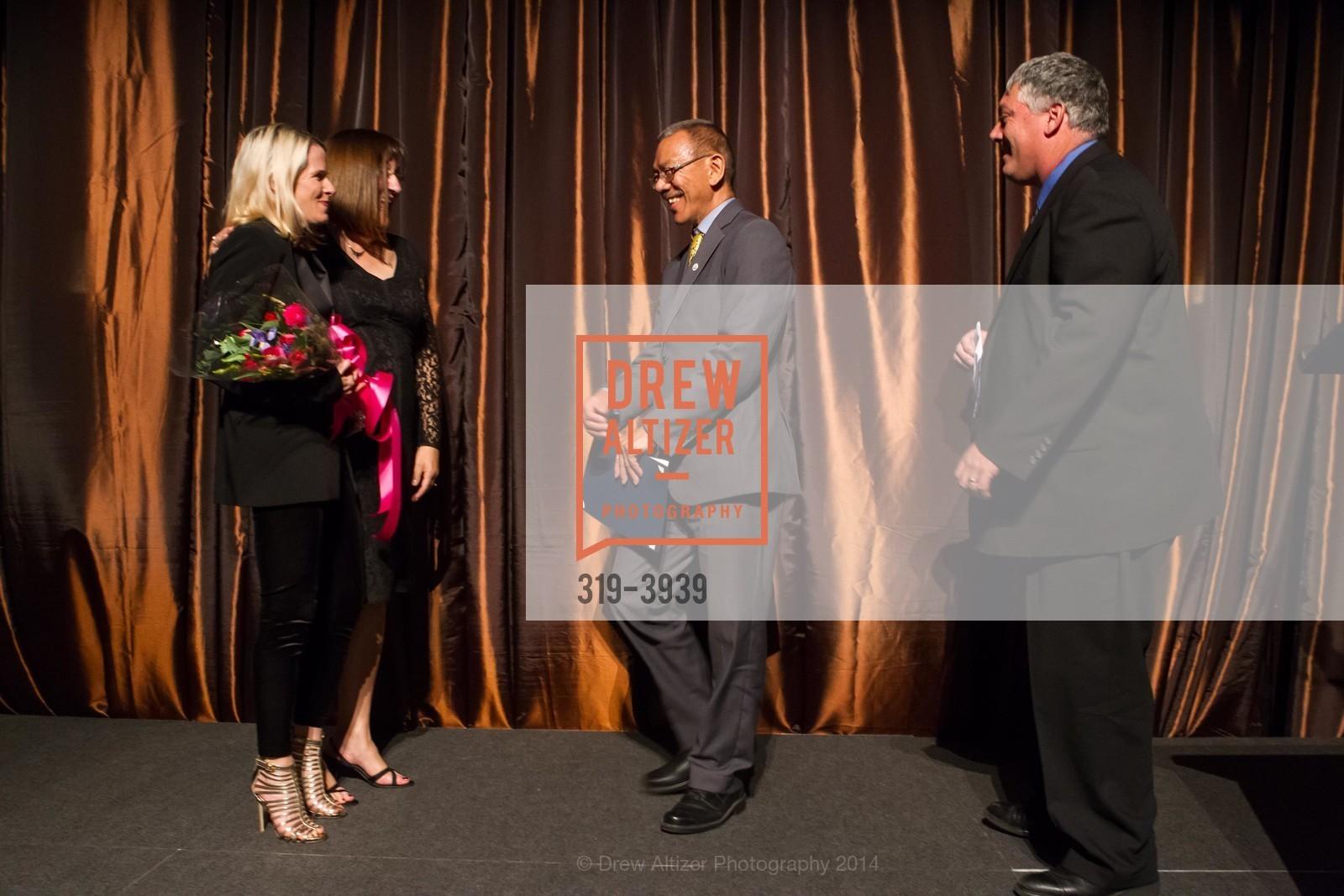 Marie Hurabiell, Donna Cahill, Supervisor Norman Yee, Tom Oertl, Photo #319-3939