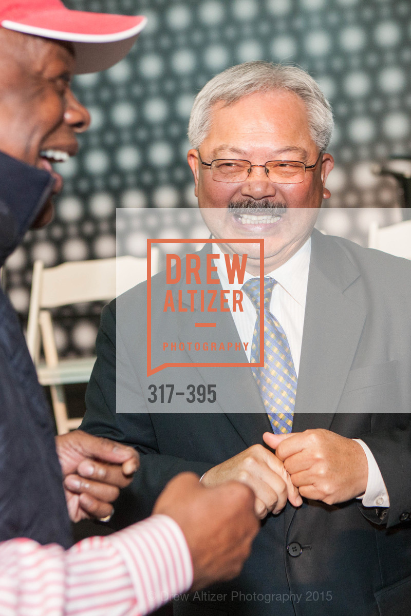 Willie Brown, Ed Lee, 10th Anniversary of the new de Young: Community Day, de Young Museum, October 17th, 2015
