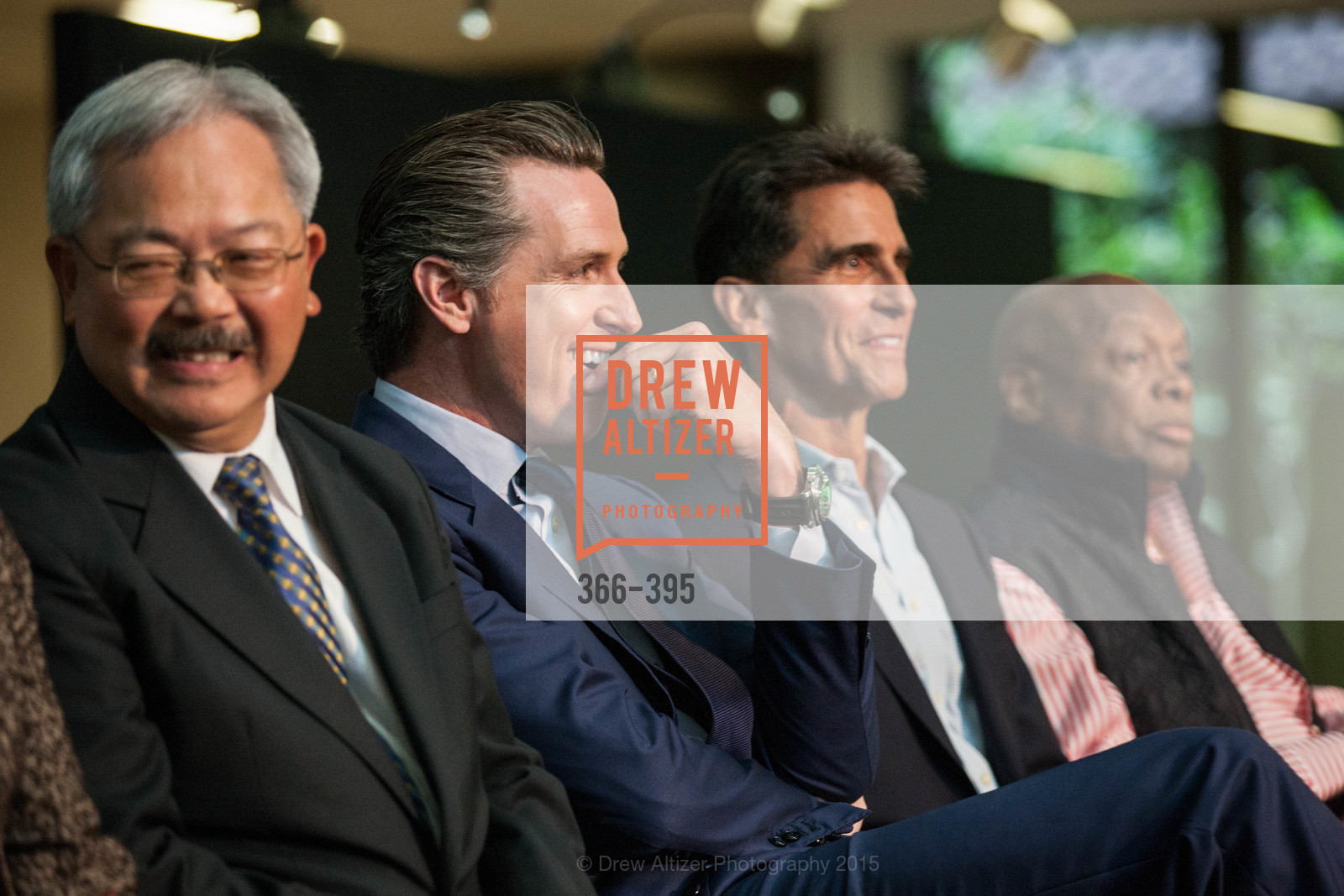 Mayor Ed Lee, Gavin Newsom, Mark Leno, Willie Brown, 10th Anniversary of the new de Young: Community Day, de Young Museum, October 17th, 2015,Drew Altizer, Drew Altizer Photography, full-service agency, private events, San Francisco photographer, photographer california