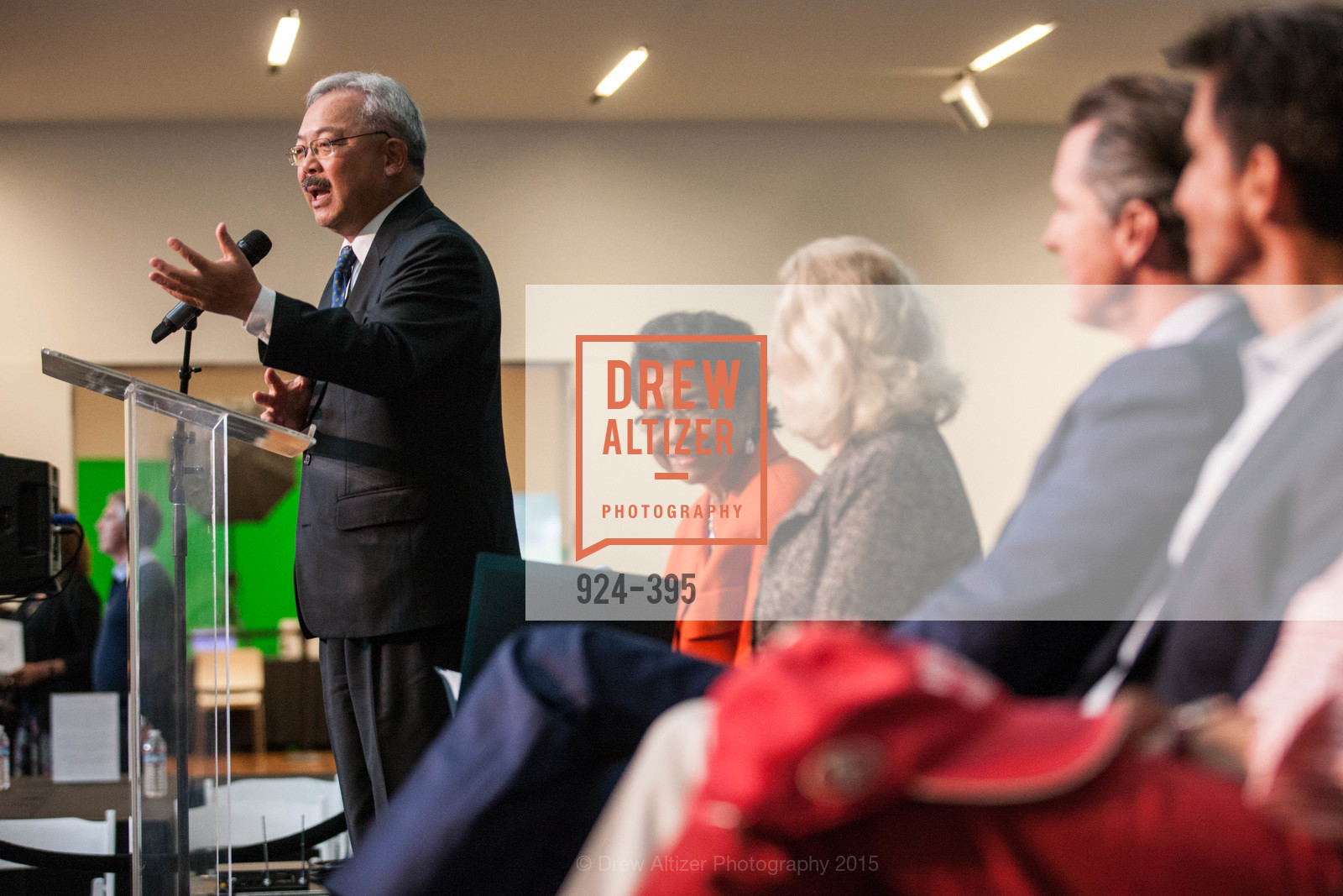 Ed Lee, Belva Davis, 10th Anniversary of the new de Young: Community Day, de Young Museum, October 17th, 2015,Drew Altizer, Drew Altizer Photography, full-service agency, private events, San Francisco photographer, photographer california