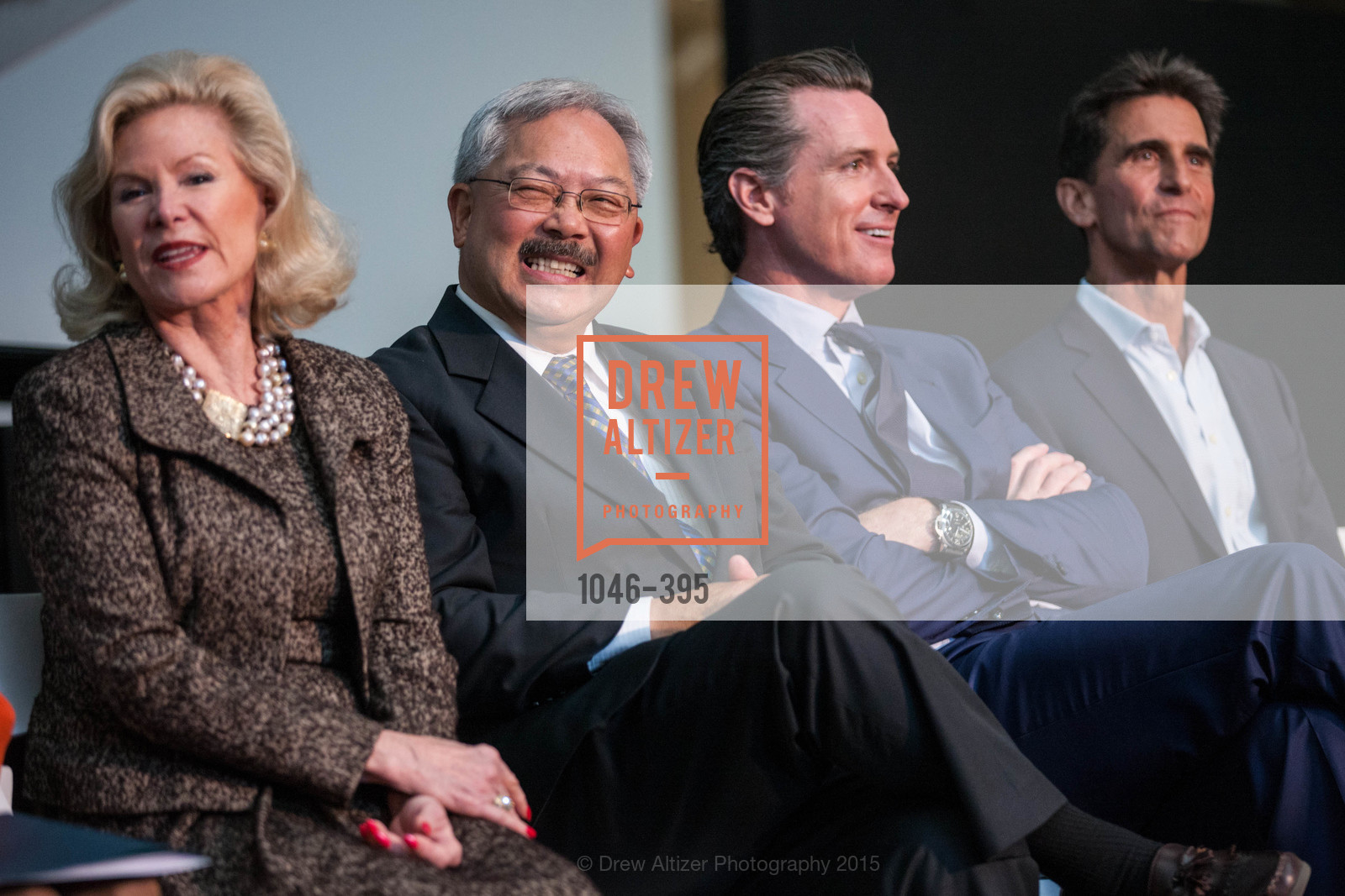 Willie Brown, Gavin Newsom, Dede Wilsey, Mayor Ed Lee, 10th Anniversary of the new de Young: Community Day, de Young Museum, October 17th, 2015,Drew Altizer, Drew Altizer Photography, full-service agency, private events, San Francisco photographer, photographer california